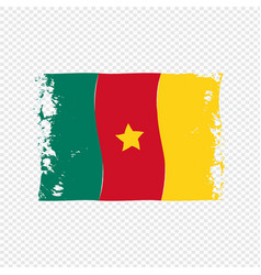 Cameroon flag transparent watercolor painted brush vector