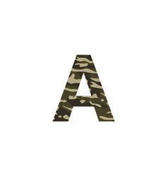 camouflage logo letter a vector image