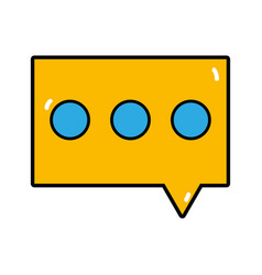 Chat bubble to dialogue message text vector
