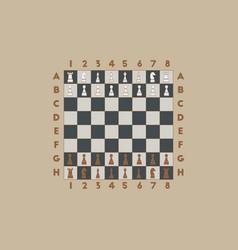 Chess game start vector