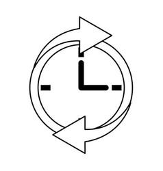 Clock with arrows icon image vector