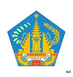 Coat arms bali is a indonesian region emblem vector