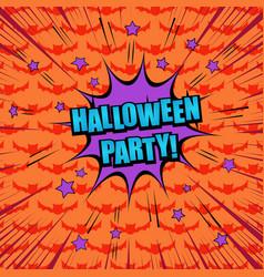 comic halloween party concept vector image