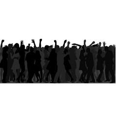 dancing crowd vector image