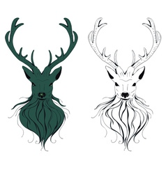 Deer Head3 vector image