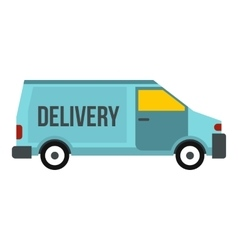Delivery van icon flat style vector image