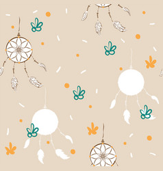 dreamcatcher background for fabric or card vector image