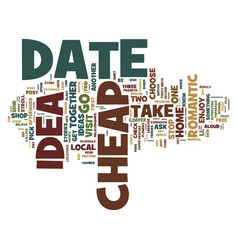 First rate cheap date ideas text background word vector