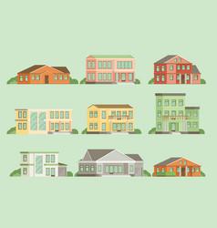 flat buildings vector image