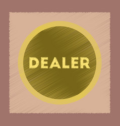 Flat shading style icon chip dealer vector