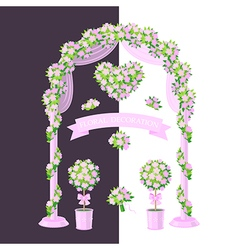 floral decoration pink vector image