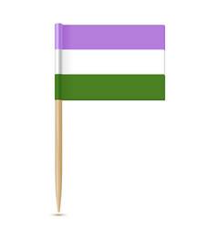 Genderqueer pride fag movement lgbt toothpick flag vector