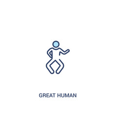 Great human concept 2 colored icon simple line vector