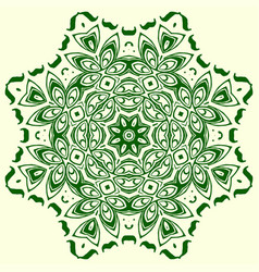 green geometric element of the ornament vector image