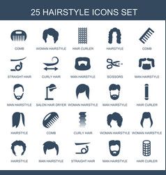 Hairstyle icons vector