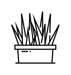 home herbs line icon concept sign outline vector image