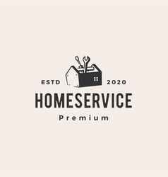 home house service hipster vintage logo icon vector image