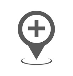 Hospital map pointer icon simple vector