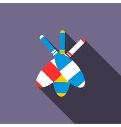 Juggling clubs icon flat style vector