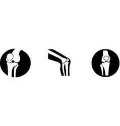 Knee icon on white background vector
