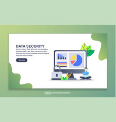 landing page template data security modern vector image