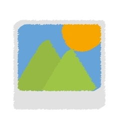 Landscape photograph icon image vector