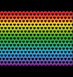 lgbt flag heart shape pattern vector image