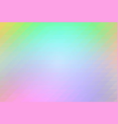 light rainbow rows of triangles background vector image