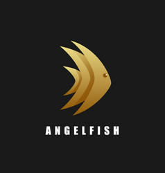 Logo angelfish gradient colorful style vector