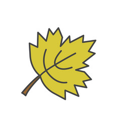 maple green leaf flat icon vector image