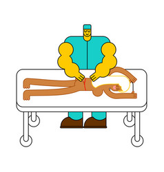 masseur specialist for massage massage table vector image