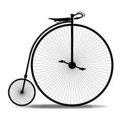 Penny farthing silhouette vector