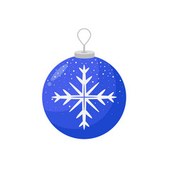 Picture of a christmas bulb with a snowflake in vector