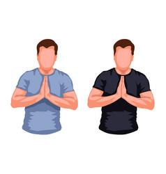 praying men silhouette vector image