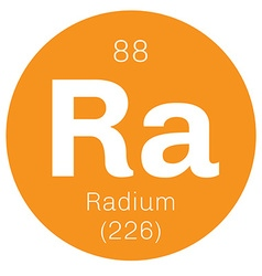 Radium chemical element vector image