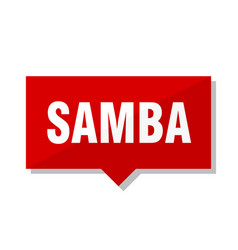 samba red tag vector image