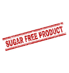 Scratched textured sugar free product stamp seal vector