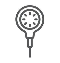 Scuba diving gauge line icon diving vector