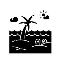 seaside resort black glyph icon vector image