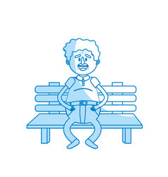 Silhouette old man in the chair with hairstyle vector