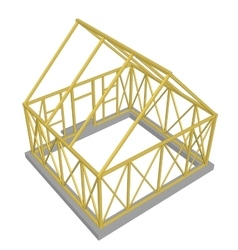 Structure of house in construction vector image