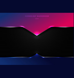 Template blue and pink geometric header with vector
