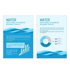 Template infographic water vector