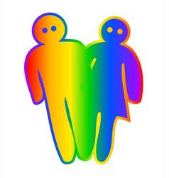 Transgender boy and girl mix vector