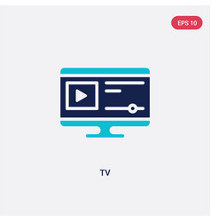 two color tv icon from blogger and influencer vector image