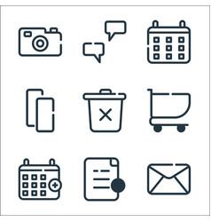 Ui master line icons linear set quality line set vector