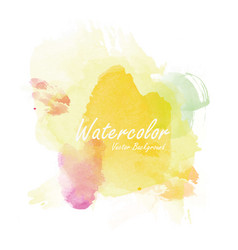 Watercolor background template vector