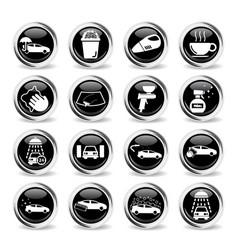 car wash simply icons vector image
