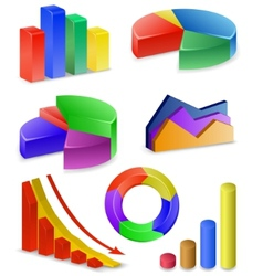 charts and graphs collection vector image