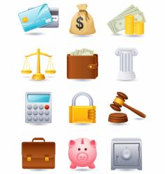 finance icon vector image